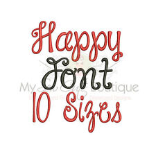 Happy Day Alphabet Embroidery Fonts Machine Embroidery Design - IMPFCD49