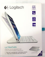 Logitech Magnetic ClipOn Ultrathin Bluetooth Keyboard iPad Mini, Mini 2,3-