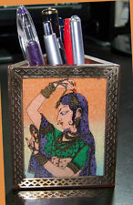 GEMSTONE PAINTING PEN PENCIL HOLDER/STAND FROM INDIA!!