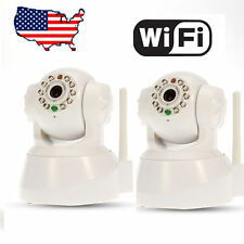 2x Wanscam Wireless IP Camera WiFi Security System Nightvision Dual Audio White