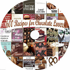 600 Chocolate Recipes Cookbook cd candy homemade vintage bake gift book cook lot