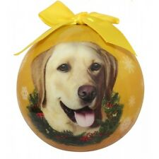 Labrador Retriever Yellow Shatterproof Ball Dog Christmas Ornament