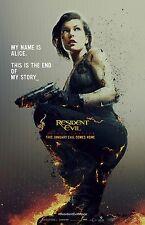 Resident Evil movie poster (c) : Final : 11 x 17 inches - Milla Jovovich poster