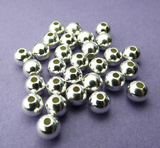 6mm 925 Sterling Silver Round Seamless Spacer Beads 10pcs.
