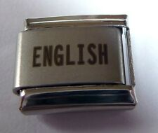 ENGLISH Italian Charm I LOVE ENGLAND Proud to be from 9mm fits Classic Bracelets
