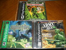 3 PS Playstation games Army Men 3D, Syphon Filiter, Army Men Sarge's Heroes 2