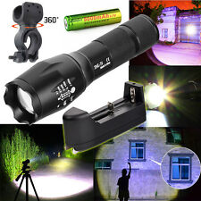 Tactical 4000LM LED Flashlight Torch XM-L T6 + Rechargeable 18650+Charger+Clip