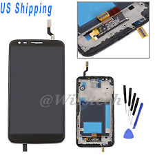 For LG Optimus G2 D800 D801 D803 Outer LCD Screen Digitizer Replacement + Frame