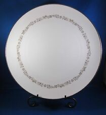 "Kenmark Fine China Dinner Plate 10.5"" Meadow Brook Pattern #6893 White 1 piece!!"