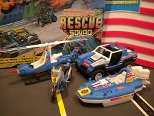 GI JOE ~ RESCUE SQUAD & SUPER COP ~4 VEHICLE SET  ~RARE~ FUNSKOOL  ~ VAMP ~ FANG