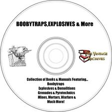 Boobytraps, Explosives, Weapons Book and Manual Collection on CD