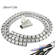 Reusable Cable Cord Wire Organizer Flexible Coiled Tube Sleeve Management Wrap