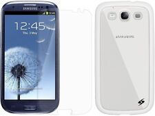 AMZER SLIMGRIP HYBRID CASE FOR SAMSUNG GALAXY S 3 III + FREE SCREEN PROTECTOR