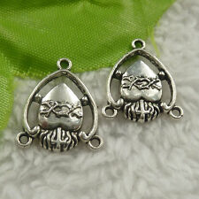 free ship 176 pieces tibet silver earring connector 20x17x3mm #4445