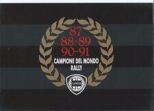 LANCIA Delta HF Integrale Martini 1991 FOLLETO Campione del Mondo Turbo gtie LX
