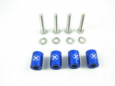 "BLUE 1"" BILLET HOOD VENT SPACER RISER KITS FOR TURBO/ENGINE/MOTOR SWAP 8MM"