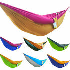 Double Parachute Fabric Outdoors Hiking Camping Lightweight Breathable Hammocks
