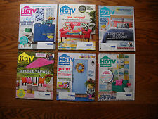 Lot Of 6 HGTV Home& Garden Decorating Magazines Jan-Aug 2016