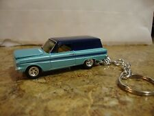 1964  Ford Falcon Panel Delivery Blue! New Keychain Key Ring 1965 66 67 68 69