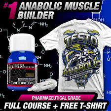 4X TESTO ANABOLIC +FREE T-SHIRT - STRONGEST TESTOSTERONE MUSCLE -NO STEROIDS/HGH