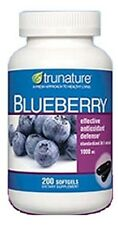 trunature Blueberry Extract 1000 mg Antioxidants  200 Softgels