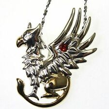 Griffins Gift Sterling Silver 925 Pendant Necklace Anne Stokes Mythical