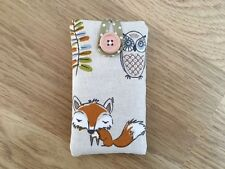 iPod Nano 7th / 8th Generation Padded Case Made In Fryett's Woodland Fox Fabric