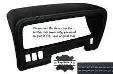 GREY STITCHING SPEEDO HOOD TRIM LEATHER SKIN COVER FITS NISSAN PATROL Y60