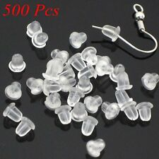 New 500pcs Rubber Earring Back Stoppers Ear Post Nuts Findings Hot