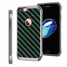 For [iPhone 7 Plus] DSC HYBRID TPU Hard Case Silver White 7Colors