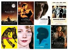 "lot#5: 8 Drama 11""x17 Mini Movie POSTERS"": Titanic, Country Strong, Changeling +"