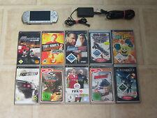 Sony PSP Silber mit 10 Gratis Spiele + Zubehörpaket (3004)
