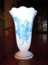 """Herend China Chinese Bouquet Blue ~ Miniature Vase ~ Excellent Condition 2"""" tall"""