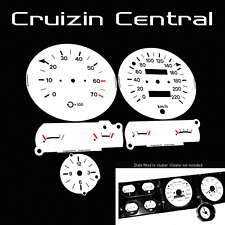 Plastic WHITE DIALS Holden Kingswood HZ GTS monaro gauge dash tacho speedo