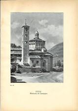 Stampa antica SUNA di Verbania Madonna di Campagna 1939 Old antique print