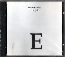 BATTISTI LUCIO HEGEL CD NUOVO SEALED