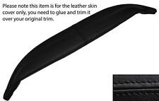 BLACK STITCH TOP DASH DASHBOARD LEATHER SKIN COVER FITS JAGUAR E TYPE