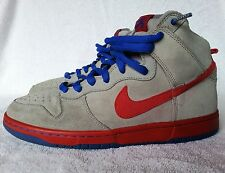 Nike Dunk High Pro SB Grey/Varsity Red 305050-063 Sz 9.5 Rare Authentic, Worn