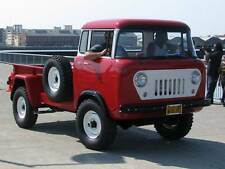 Old Photo. Red 1960 Willys Jeep FC 170 C.O.E. Truck