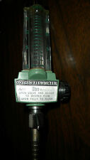 FLOWMETER, green body, oxygen,used, 1-15 lpm, AIRCO, with DISS fem Connector hex