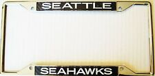 Seattle Seahawks Carbon Chrome License Plate Frame Year Warranty New Car Must