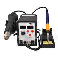 2in1 898D+ Soldering Rework Station Hot Air Gun Solder Iron Welder LCD display