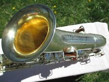 "CONN ""CHU-BERRY"" Bb TENOR SAXOPHONE CIRCA 1928 SILVER PLATED (@ 90%)"
