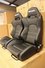 2 x Recaro SR5 in Ultra hard wearing PVC. White stitch. ADR