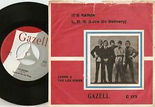 LENNE & THE LEE KINGS IT`S RAINING & LOVE ON DELIVERY DANISH 45+PS 1965 MOD BEAT