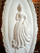 Stucco- oval Medallion 101-357 from Stuck - Baroque ladies 38x18 cm