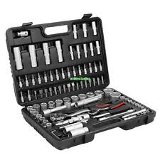 "94PC 1/2""&1/4"" SOCKET SET & SCREWDRIVER BIT TORX RATCHET DRIVER CASE TOOL KIT"