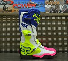 Fox Racing Mens Navy White Pink Comp 8 Racing MX Moto Boots SIZE 10 16451-045-10