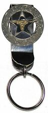 Texas Longhorn Star Out of the Pocket Key Holder 1 1/2 Inch Dia. Ranger Concho