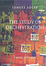The Study of Orchestration By Samuel Adler  Hardcover NEW Free Shipping